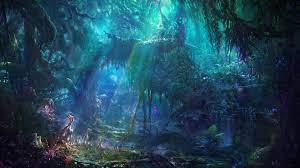 forest, fantasy art, artwork, science ...