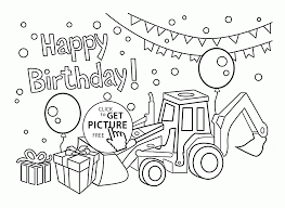 Print out a card for your young ones, so they can enjoy coloring a birthday card for their parent. Color Happy Birthday Card For Boys Coloring Page Kids Holiday Img Free Printable Cards Madalenoformaryland