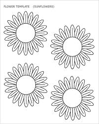 Sun Flower Template sample flower temlate 6 documents in pdf on template for a 6 month event timeline