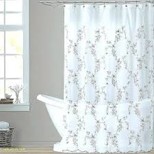 white linen shower curtain natural new long