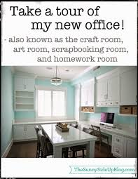 Office craftroom tour Farmhouse The Sunny Side Up Blog Take Tour Of My New Office The Sunny Side Up Blog