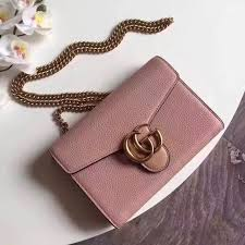 gucci gg marmont leather mini chain bag 100 authentic women s fashion bags wallets on carou