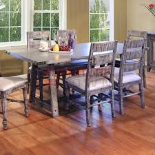International Furniture Direct Dining Tables 986 Zinc Dining Table