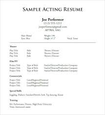 Theatre Resume Templates Stunning Musical Theatre Resume Template Theatre Resume Template Acting 48