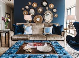 Wayfair offers thousands of design ideas for every room in every style. 20 Appealing Living Rooms With Gold And Navy Accents Home Design Lover