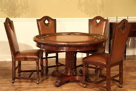 round leather top table mahogany table for round dining table 52 inch