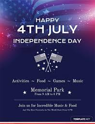 Free Simple 4th Of July Flyer Template Word Psd Apple