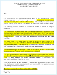 Dr Letter Template Reschedule Appointment Letter 7 Sample Letters And Templates
