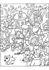 Kleurplaten Sinterklaas Creatief En Simpel