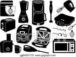 kitchen appliances clipart. Brilliant Appliances Set Of Kitchen Appliances To Kitchen Appliances Clipart C
