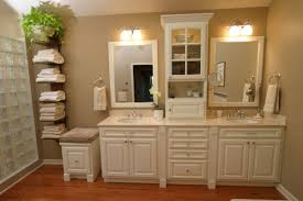 bathroom vanity and linen cabinet. Bathroom Decoration Design Ideas Using White Wood Vanity Linen Cabinets Including Light Grey And Cabinet