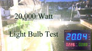 Bright Light Test 20 000 Watt Light Bulb Test Clever Cool