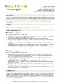 It Technical Support Resume Samples Qwikresume