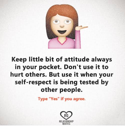 quotes on self respect and attitude