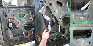 ford f150 & f250 power window not working ford trucks F150 Door Lock Diagram step 4 remove the motor 2000 f150 door lock diagram