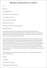 Business Proposal Cover Letter Sample Doc Lovely Business Proposal