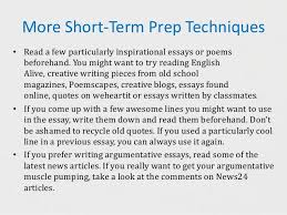 success in creative writing exams preparing for the essay 11