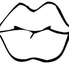 Small Picture Lips Coloring Page FunyColoring