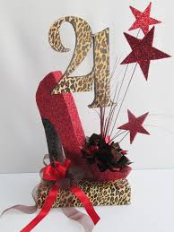 Leopard Print Party Decorations 21st Birthday Center Piece Ideas 21st And 50th Birthday