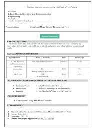 Resume Format Ms Word 2007 Simple Resume Format Download In Ms Word ...