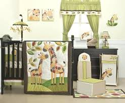 giraffe crib bedding set