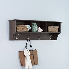 Prepac Fremont Espresso Entryway Cubbie Shelf And Coat Rack