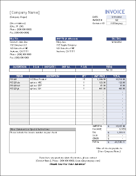 Invoice Template Excel Microsoft Simple Excel Invoice Magdalene Project Org