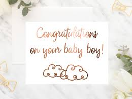 Congratulations On Your Baby Boy Foil Card Congratulations On Your Baby Boy Peppa Penny