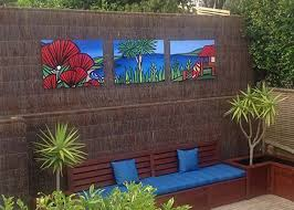 mural panels on outdoor wall art new zealand with outdoor art by sarah c mangawhai