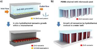 schematic diagram of a patterned growth of zno nanowire arrays by schematic diagram of a patterned growth of zno nanowire arrays by an in situ