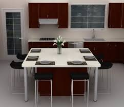 kitchen island table ikea. Modren Kitchen A Squareshaped IKEA Kitchen Island That Serves As A Dining Area Inside Kitchen Island Table Ikea