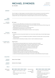 Esl Teacher Resume Samples Templates Visualcv