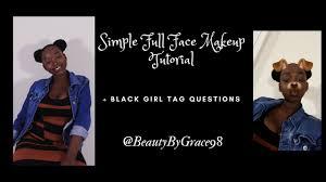 simple full face makeup tutorial black questions