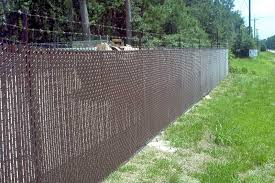chain link fence slats brown. Brown Vinyl Coated Chain Link With Privacy Slats Fence N
