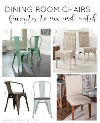 dining room chairs favorites to mix and match farmhouse made mixed dining room chairs