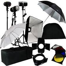 3 studio photo flash strobe light stand kit w softbox umbrella lighting photo