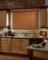 wood blinds for kitchen window