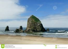 Tide Chart For Cannon Beach Oregon Cannon Beach Haystack Rock Oregon Stock Photo Image Of