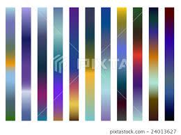 Gradation Color Chart Set Stock Illustration 24013627