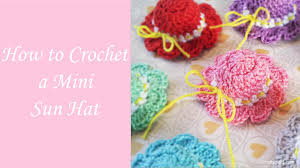 Youtube Free Crochet Patterns Amazing How To Crochet A Mini Sun Hat Free Crochet Pattern YouTube