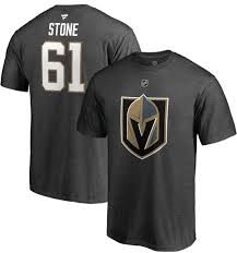 Grey Nhl T-shirt Player Mark Knights Vegas Stone Golden Men's 61