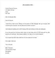 Employment Acceptance Letter Job Acceptance Letter Format Word Download Of Proposal