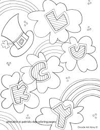 Saint Patricks Day Coloring Pages Coloring Free Printable St Day
