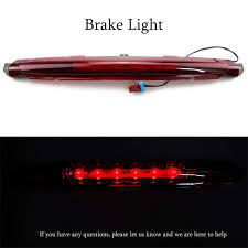 How To Change Third Brake Light On 2002 Chevy Avalanche Led High Mount Stop Tail Light Assembly Rear Roof Center Led Third 3rd Brake Cargo Light Replacement For 2002 2012 Chevrolet Avalanche Black Housing