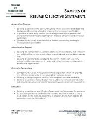 Resume Examples Objectives Unique Career Objective For Resume Examples Best Career Objectives Resume
