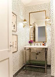 Lilly Bunn Interior - bathrooms - powder room, wallpaper in powder room,  wallpaper for powder room, powder room wallpaper, dalmatian wallpap.