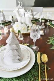 Christmas Tree Napkin Fold Tutorial - Sand and Sisal
