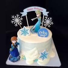 Disney Frozen Anna Elsa Cake Topper Figure Statue Birthday Cake