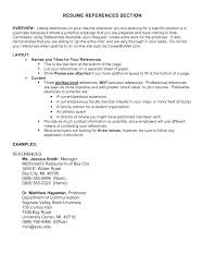 Resume Reference Examples Job Reference Page Example Job Reference ...