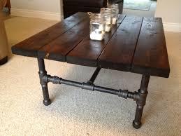 diy metal furniture. Furniture, Dark Brown Rectangle Rustic Wood And Metal Pipe Legs Diy Coffee Table Ideas As Furniture N